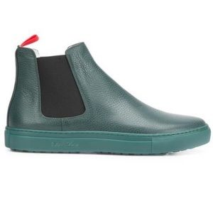 Del Toro Leather High-Top Slip-On Chelsea Boots